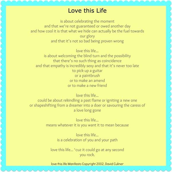 love this life manifesto